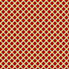 Red & Golden Pattern for Gifts... by Qnita