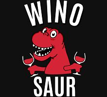 Winosaur Dinosaur Drinking Wine Womens Fitted T-Shirt