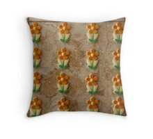 Tile of Flowers Throw Pillow