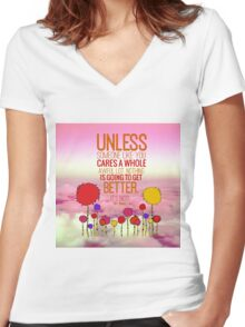 Unless Cloud Women's Fitted V-Neck T-Shirt