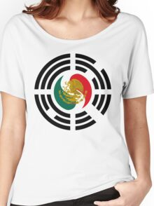 Korean Mexican Multinational Patriot Flag Series Women's Relaxed Fit T-Shirt