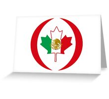 Mexican Canadian Multinational Patriot Flag Series Greeting Card