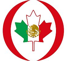 Mexican Canadian Multinational Patriot Flag Series Photographic Print