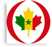 Senegalese Canadiain Multinational Patriot Flag Series Canvas Print