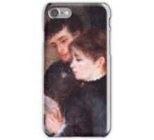 Auguste Renoir - Couple Reading 1877 iPhone Case/Skin