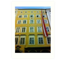 Mozart House of Birth Art Print