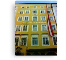 Mozart House of Birth Canvas Print