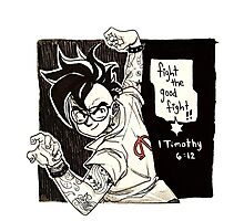 Fight the Good Fight: DBZ Style Photographic Print