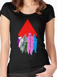 Jojo's Pixelated Adventure  Women's Fitted Scoop T-Shirt