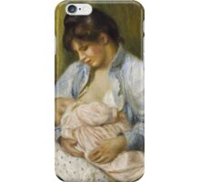 Auguste Renoir - A Woman Nursing a Child 1894 iPhone Case/Skin