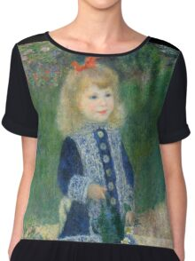 Auguste Renoir - A Girl with a Watering Can 1876 Chiffon Top