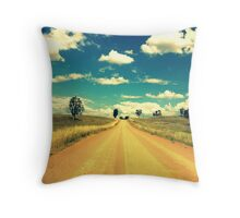 Dirty Back Road Throw Pillow