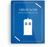House Who Metal Print