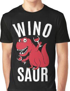 Smile Wino Saur say Winosaur Graphic T-Shirt