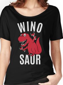 Smile Wino Saur say Winosaur Women's Relaxed Fit T-Shirt