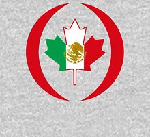 Mexican Canadian Multinational Patriot Flag Series Unisex T-Shirt