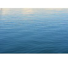Natural background with blue and beige water ripples. Photographic Print