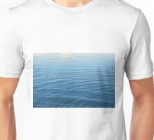 Natural background with blue and beige water ripples. Unisex T-Shirt