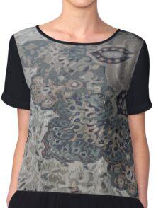 Polygon Texture Women's Chiffon Top