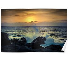 Dramatic sunset Poster
