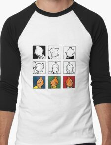 tintin Men's Baseball ¾ T-Shirt