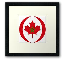 Moroccan Canadian Multinational Patriot Flag Series Framed Print