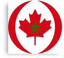 Moroccan Canadian Multinational Patriot Flag Series Canvas Print