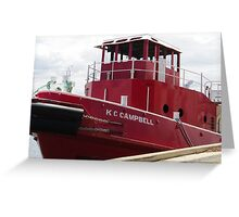 The Fiesty Red Boat Greeting Card