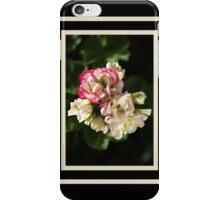 Geranium Soft White and Pink iPhone Case/Skin
