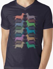 Dachshund Color Parade Mens V-Neck T-Shirt