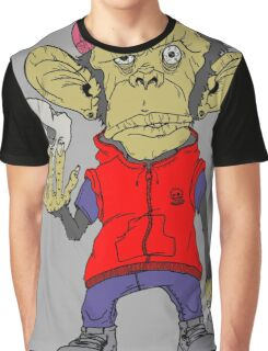 cartoon stood monkey. Graphic T-Shirt