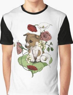 Puppy Bouquet Graphic T-Shirt