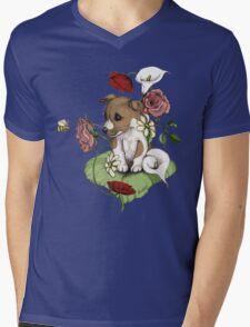 Puppy Bouquet Mens V-Neck T-Shirt