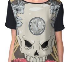 outdie skull Chiffon Top