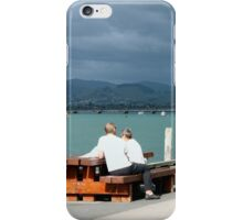 People watching on the waterfront iPhone Case/Skin