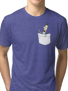 Mr. PoopyButthole Pocket Tee - Rick and Morty Tri-blend T-Shirt