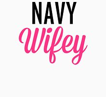 Navy Wifey Quote Womens Fitted T-Shirt