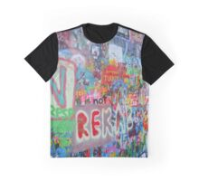 John Lennon Wall Graphic T-Shirt