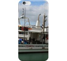 Tauranga fishing charters boat iPhone Case/Skin