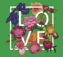 Floral Love Graphic Design Baby Tee