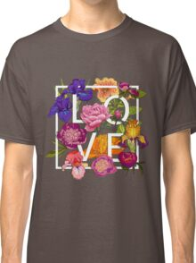 Floral Love Graphic Design Classic T-Shirt