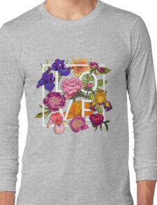 Floral Love Graphic Design Long Sleeve T-Shirt