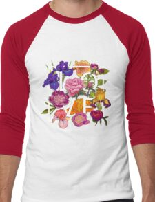Floral Love Graphic Design Men's Baseball ¾ T-Shirt