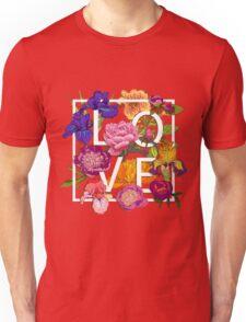 Floral Love Graphic Design Unisex T-Shirt