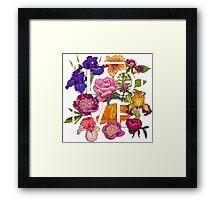 Floral Love Graphic Design Framed Print
