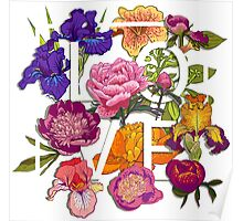 Floral Love Graphic Design Poster