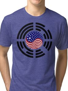 Korean American Multinational Patriot Flag Series 4.0 Tri-blend T-Shirt