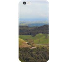 View of Waikato from Kaimai ranges iPhone Case/Skin