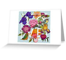 Floral and birds Graphic Design  Greeting Card