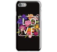 Floral and birds flamingos Love Graphic Design iPhone Case/Skin